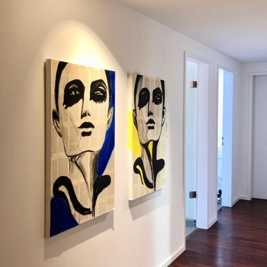 Gemälde Gesichter in der Arztpraxis Zahnarztpraxis Krankenhaus