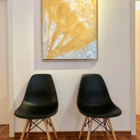 Praxisgestaltung mit Interiör und Kunst Gemälde